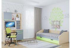 Детская кровать Детская кровать SV-Мебель Алекс 2 лайм,с ящиками