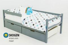 Детская кровать Детская кровать Бельмарко Skogen графит
