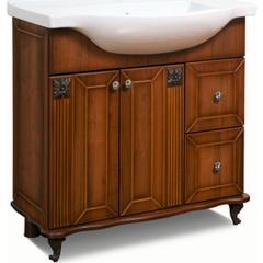 Мебель для ванной комнаты Калинковичский мебельный комбинат Тумба Баккара 850 (КМК 0453.5) орех