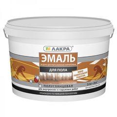Эмаль Эмаль Лакра акриловая для пола (бежевая) 2.4 кг