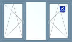 Алюминиевое окно Reynaers 2700*1600 ПО+Г+ПО
