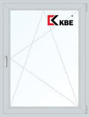 Окно ПВХ KBE 1000*1400 1К-СП, 5К-П, П/О