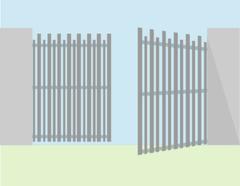 Alutech Ворота распашные алюминиевый профиль б/авт 4*2