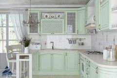Кухня Кухня на заказ ЗОВ Париж 4 (патина зеленая)