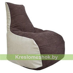 Бескаркасное кресло Бескаркасное кресло Kreslomeshok.by Бумеранг Б1.4-01 (бежевый, коричневый)