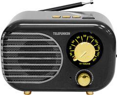 Радиоприемник Радиоприемник TELEFUNKEN Радиоприемник Telefunfen TF-1682UB Black/Gold