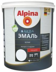 Эмаль Эмаль Alpina Аква (белая, 0,9 л/1,10 кг)