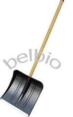 Посадочный инструмент, садовый инвентарь, инструменты для обработки почвы БелБиоХаус Лопата для снега пластмассовая с деревянным черенком 360х380
