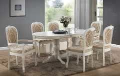 Обеденный стол Обеденный стол Avanti Classic Anjelica White (2+4 стула)