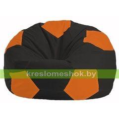Бескаркасное кресло Бескаркасное кресло Kreslomeshok.by Мяч М 1.1-400 чёрный - оранжевый