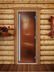 Дверь для бани и сауны Дверь для бани и сауны Doorwood Престиж бронза 700x1900 (ольха)