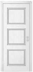 Межкомнатная дверь Межкомнатная дверь Юркас Квадро ДГ (эмаль серебро)