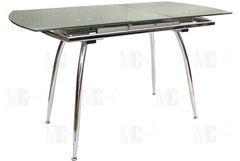 Обеденный стол Обеденный стол Metsteklo GN207B серебро 1