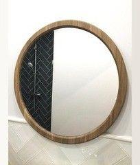 Зеркало Драўляная майстэрня круглое в раме из массива дуба