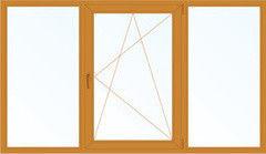 Деревянное окно Лиственница 2060*1420, 1с, Г+П/О+Г