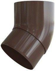 Водосточная система Альта-Профиль Элит Колено трубы 45° ПВХ коричневое