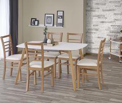 Обеденный стол Обеденный стол Halmar Kajetan 135/185 (белый/медовый дуб)