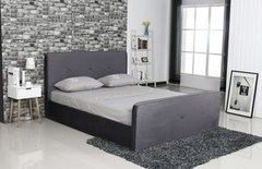 Кровать Кровать Atreve Emily 2 (бархат/темно-серый)