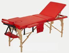 Мебель для салонов красоты  Массажный стол AAF 3-х сегментный складной (дерево), цвет красный