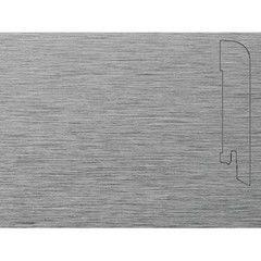 Плинтус Плинтус Pedross Алюминий светлый (фольгированный) 70x15x2500 мм