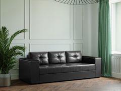 Диван Диван Настоящая мебель Ванкувер Лайт с декором (модель: 00-000034505) чёрный