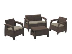 Keter Комплект мебели Корфу сет (Corfu set) коричневый