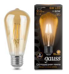 Лампа Лампа Gauss Filament ST64 (102802006)