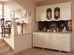 Кухня Кухня БелДрев Кармен линейная жемчуг