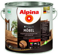 Лак Лак Alpina Aqua Mobel 2.5 л
