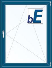 Окно ПВХ BluEvolution 92 800*1100 2К-СП, 6К-П, П/О ламинированное (темно-синий)