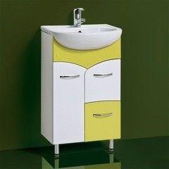 Зеленая мебель для ванной Акваль Тумба под умывальник Виктория 50 L оливковый
