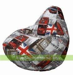 Бескаркасное кресло Бескаркасное кресло Kreslomeshok.by Кресло-мешок  Груша Лондон бус