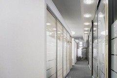 Перегородка Raumplus Офисная перегородка с пескоструйной стеклянной основой