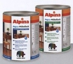 Лак Лак Alpina Aqua-Mobellack
