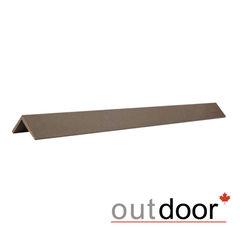 Декинг Декинг Outdoor Угол завершающий ДПК коричневый 45x45x2900