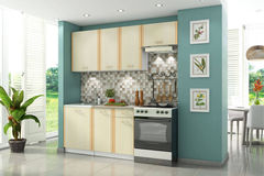 Кухня Кухня Stolline Бланка СТЛ.094.00 (2.0 м) белый/дуб кремона