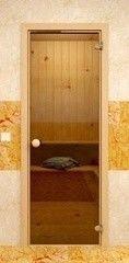 Дверь для бани и сауны Дверь для бани и сауны Sauna Market Коробка из сосны, стекло гладкое бронза