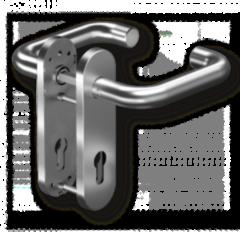 Dorma Комплект ручек Pure 8100 / 7051K PZ/72 , 38-56 мм, 8 мм, нерж. ст. (90050055041)