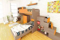 Детская комната Детская комната 3dom Слимпи грецкий орех + оранжевый (14 элементов)