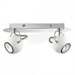Настенно-потолочный светильник Ideal Lux LUNARE AP2 BIANCO SILK