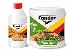 Лак Condor Sauna Lack 2.3кг + Sauna Reinholz 0.4кг