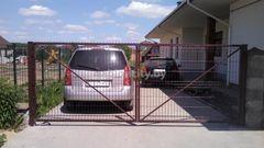 GabionCity Ворота распашные из панелей 3Д оцинкованные с полимерным покрытием