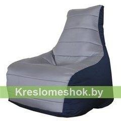 Бескаркасное кресло Бескаркасное кресло Kreslomeshok.by Бумеранг (серый, тёмно-синий)