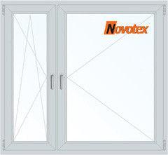 Окно ПВХ Окно ПВХ Novotex 1460*1400 1К-СП, 3К-П, П/О+П