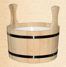Аксессуар для бани Мегастройторг Шайка для бани с пластиковым вкладышем 12 л