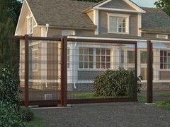DoorHan Откатные ворота со стальной рамой и с заполнением сварной сеткой