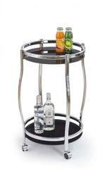 Сервировочный столик Сервировочный столик  Стол сервировочный HALMAR BAR8 хром\черный BR-388