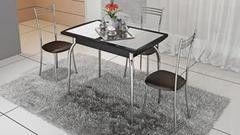 Обеденный стол Обеденный стол ТриЯ Стамбул (мини) 2 с хромированными ножками