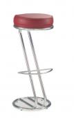 Барный стул Барный стул САВ-Лайн Зета хокер хром (бордо)