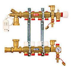 Комплектующие для систем водоснабжения и отопления Giacomini Сборный коллекторный узел с обвязкой R557 R557Y003
